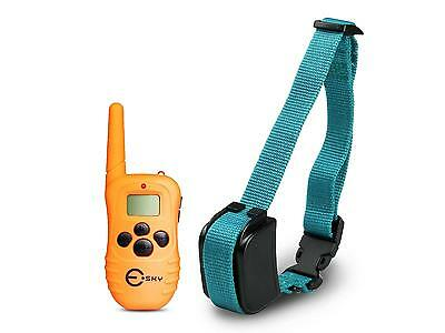 Rechargeable LCD 100LV Level Shock Vibra Remote 1 Dog Training Collar 100% Test