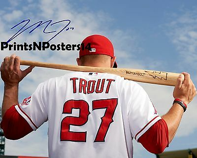 Mike Trout signed REPRINT Angels 8x10 photo #2