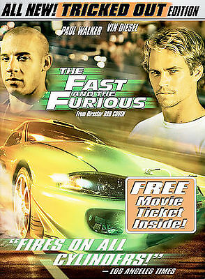 The Fast and the Furious DVD Tricked Out  Full Screen  Paul Walker, Vin Diesel