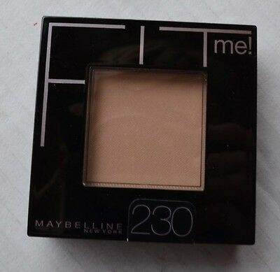 New Maybelline Fit Me 230 Natural Buff Pressed Powder 0.3 oz 9 g