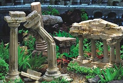 "Aquarium / Vivarium Roman temple Ruins Background 19"" Tall Poster Fish Viv Tnk x • EUR 3,17"