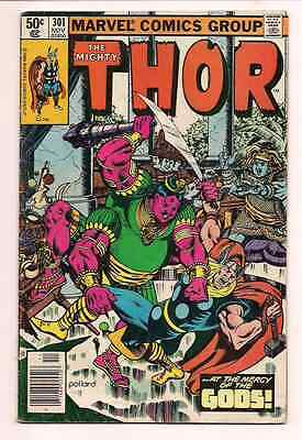 Thor #301 and 302 The Mighty Thor Original DC Comic Book 1980 Super Sale