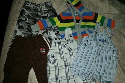 Lot Of 5 Baby Boys Clothes Size 9m CHILDRENS P - CARTERS -FIRST MOMENT- FADED G.