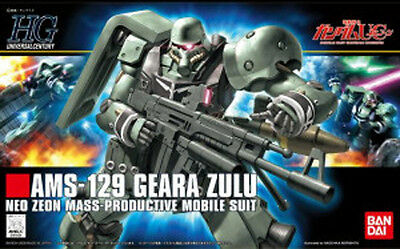Bandai 1/144 HGUC 102 GUNDAM AMS-129 GEARA ZULU scale kit from Japan