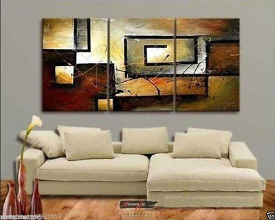 MODERN ABSTRACT HUGE WALL DECOR OIL PAINTING ON ART CANVAS 3PC(no framed)
