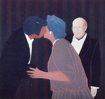 Charles Pachter•The Rosedale Kiss 1989•Toronto•Canada•Color Art Postcard 4x6