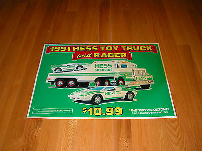 Hess 1991 Toy Truck And Racer  Horozontal Vinyl Poster
