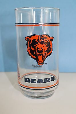 Chicago Bears NFL Glass Mobil 5.5 in. Tall, Double Stripe  Glasses Mug Cup