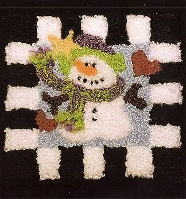 """New Punchneedle Pattern by Quilt Country  """"Snowman"""""""