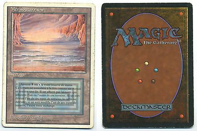MTG Magic - Revised Edition - Mer souterraine (Underground Sea) French Good