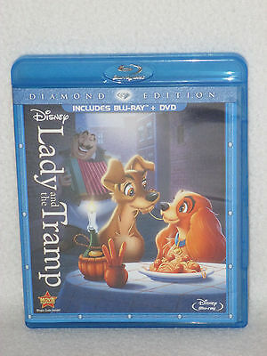 LADY AND THE TRAMP Disney Diamond Edition Blu Ray & DVD Set