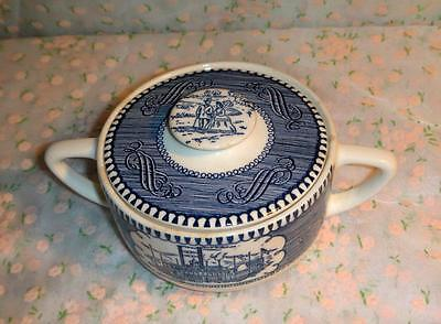 STEAMBOAT PATTERN SUGAR BOWL BY CURRIER & IVES - ROYAL