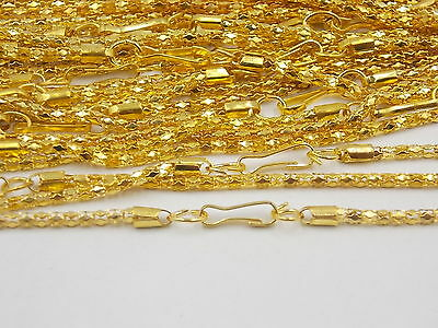 """Lost 10PCS Gold Plated Hollow Snake Chain Necklace With Clasp ,22"""" J# G"""