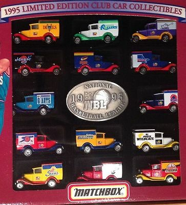 """Matchbox 1995 Limited Edition Club Car Collectables NBL -14pc Ford Model""""A""""Vans"""
