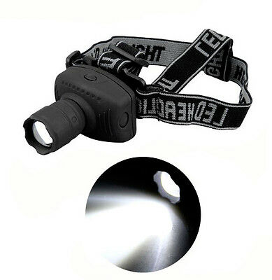 -Newest 500 Lumen LED 3-Mode Zoomable Headlamp Head torch Light Lamp-