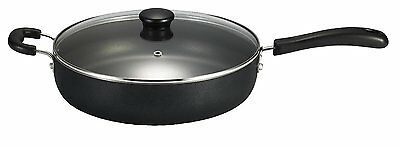 Jumbo 5-Qt Non Stick T-fal Frying Skillet Pan w/Glass Lid Cookware Cast Iron, Ne