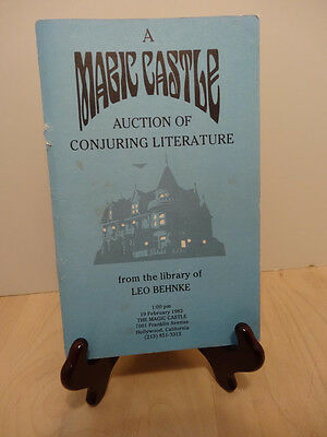 A MAGIC CASTLE AUCTION OF LITERATURE from the library of LEO BEHNKE.. 1983..