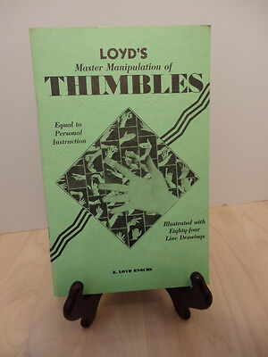 LOYD'S MASTER MANIPULATION OF THIMBLES.. COPYRIGHT 1975..