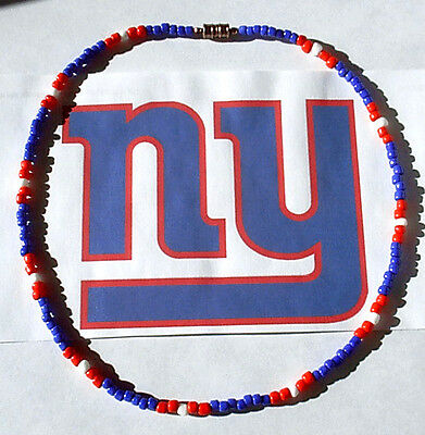 """New York GIANTS ~ We got your colors ~ Sport Necklaces by """"SLICK LINE"""" USA"""