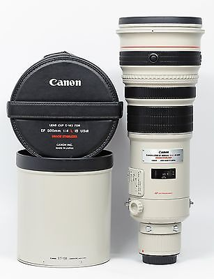 Canon EF 500mm F/4.0 IS L USM 500 4 Lens with Trunk Case UW code Excellent +