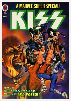 KISS Poster **VERY RARE IMAGE** MARVEL COMIC