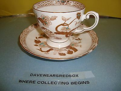 Vintage Royal Tuscan Tea Cup and Saucer Bone China Pastel Flower NM Condition