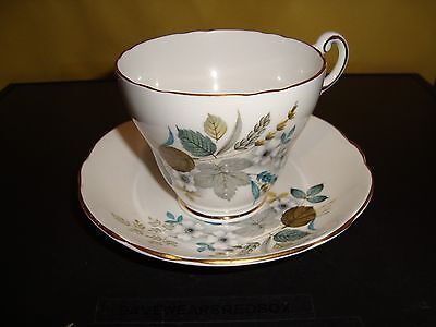 Regency Vintage Tea Cup and Saucer Floral Design Near Mint Condition Bone China