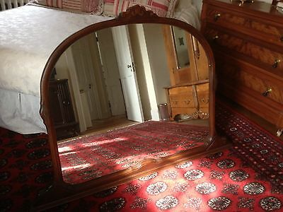 Beautiful Large Antique Wood Mirror for Wall, Sideboard, Dresser, Mantle