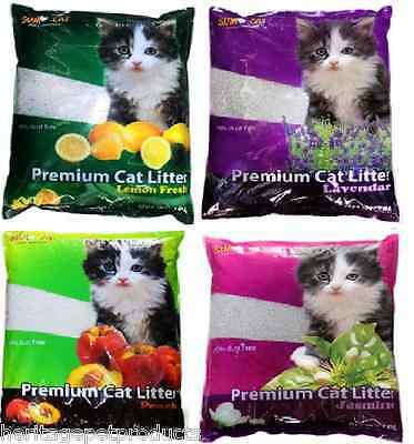 Fresh Scent Cat Litter Kitty Loo Toilet Soil Tray 10L Scented Clumping Eco Odour