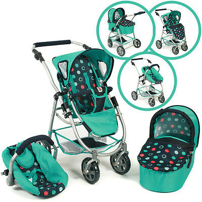 Bayer Chic 2000 Puppenwagen Emotion All In 3in1 (Menta)