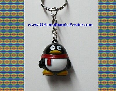 QQ Penguin Metal Bell Keychain