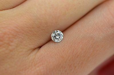 Natural Loose Diamond 0.42 Carat H SI1 Round IDEAL Cut Certified Engagement Ring