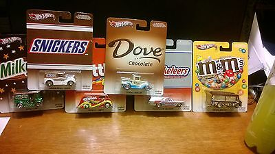 HOT WHEELS Candy Cars on Real Riders LOT of 6