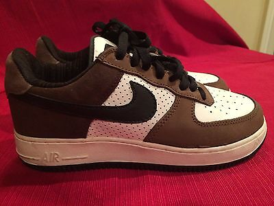 NIKE AIR FORCE 1 LOW PREMIUM ESCAPE BROWN 312489-101 Size 7 YOUTH