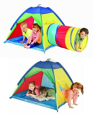 Pop-Up Children Toddler Play Tent Kids Playhouse Tunnel Hut Game House Portable