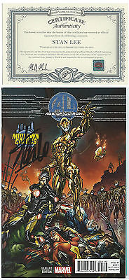 Age Of Ultron  Book One Midtown Variant J.scott Campbell Signed Stan Lee W/ Coa