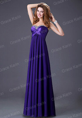 ~Clearance SALE ~Wedding Party Prom Long Homecoming Cocktail Purple dress Size 2