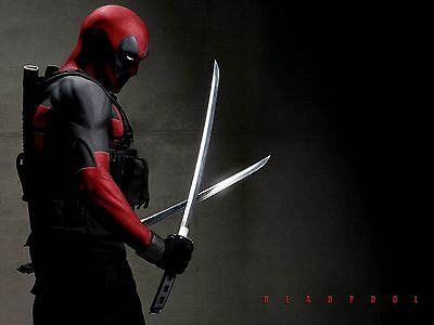 DEADPOOL Swords POSTER 24 X 36 Inches Looks Awesome!