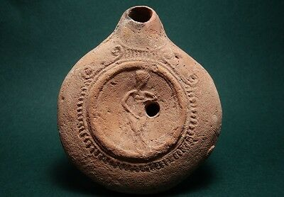Ancient Oil Lamp Aphrodite Early Terracotta Roman 100 Bc-100 Ad * Rare * • CAD $502.74