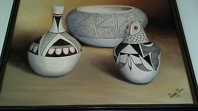 Authentic Native America  Art  1972 Russell Pooler