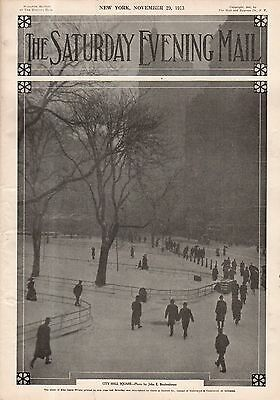 1913 Saturday Evening Mail November 29-Famous Christmas shoppers; Panama Canal