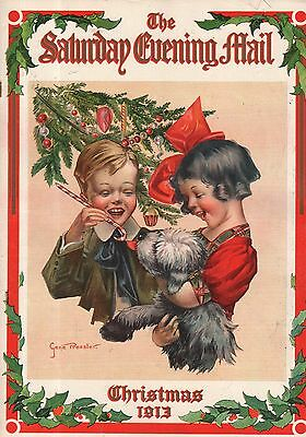 1913 Saturday Evening Mail Christmas Number-Christmas Dolls; Ethel Barrymore