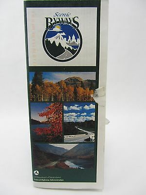 "1998 Scenic Byways Federal Highway Admin MAP approx 36"" x 22"" All American Roads"