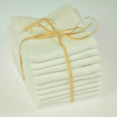 Baby Muslin Squares Re-Use Nappy Wipes Bibs 100% Cotton 3 6 9 12 18 24 Pack
