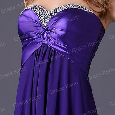 Clearance Price Wedding Party Prom Long Homecoming Cocktail Purple dress Size 2