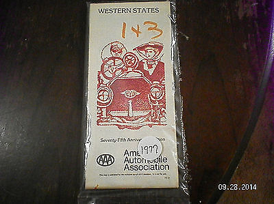 "1977   AAA  "" WESTERN STATES"" ROAD MAP"