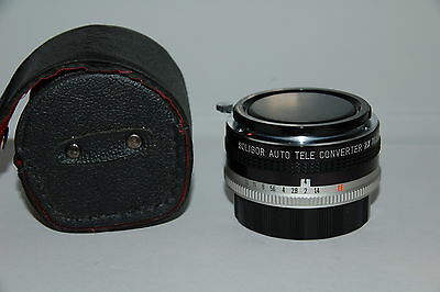 Soligor Auto Tele Photo Converter 2x to Fit Konica Lens Made in Japan with Case