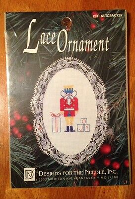 DESIGNS FOR THE NEEDLE Counted Cross Stitch Kit LACE ORNAMENT NUTCRACKER