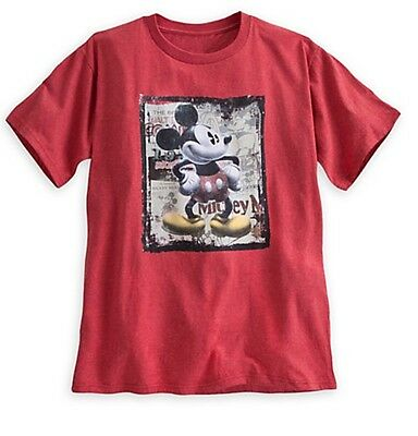 Disney Store Authentic Mickey Mouse Steamboat Willie Vintage Mens Shirt Size XL