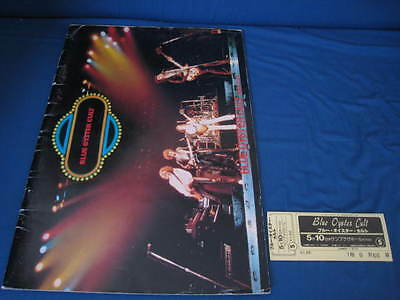 Blue Oyster Cult 1979 Japan Tour Book with Ticket Concert Program